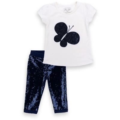 Набор детской одежды Breeze футболка с бабочкой со штанишками (8969-104G-cream)