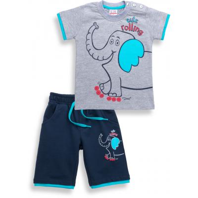 Набор детской одежды Breeze со слоником (6199-104B-blue)